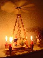 Weihnachtspyramide dreht sich