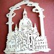einfaches Fensterbild Alt Dresden Frauenkirche