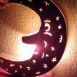 Fensterbild Mond - Kinderzimmer Beleuchtung