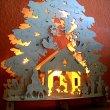 Beleuchteter Lichterbogen mit Motiv Christi Geburt