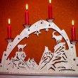 lichterbogen mit Kerzen - Alpen Gemse