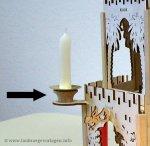 Halter für Kerzentülle/ Blecheinsatz Kerze an Pyramide