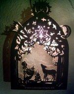 Laubsägevorlage Fensterbild beleuchtet- Sternentaler