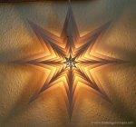 Laubsägevorlage beleuchtetes Fensterbild - Stern