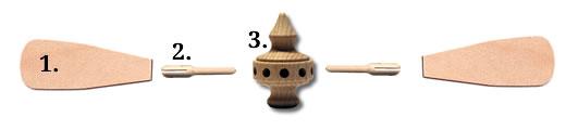 Pyramidenflügel, Pyramidenkopf und Flügeladapter Anleitung