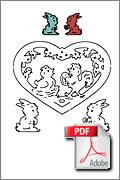 Download kostenlose Laubsägevorlage Ostern Osterei