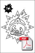 Download kostenlose Laubsägevorlage Krippe Fensterbild