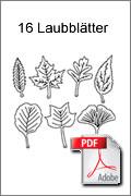 Download kostenlose Laubsägevorlage Blätter Baum
